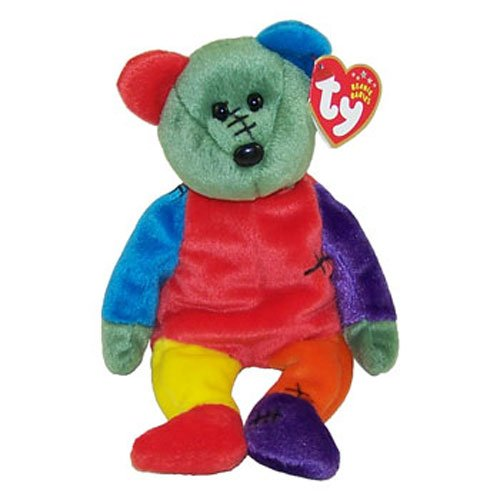 TY Beanie Baby - FRANKENTEDDY Bear (Red & Purple Feet) (8.5 inch) - 1