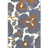 Amy Butler Morning Glory Wool Rug - Gray