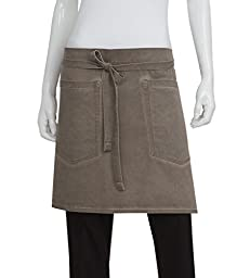 Chef Works AHWAQ014-EAB-0 Antique Bistro Apron, Earth Brown