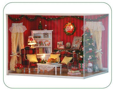 Big Dollhouse Miniature Diy Wood Frame Kit With Light Model Sweet Promise Gift Ldollhouse88-D76