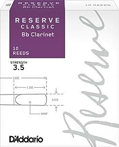 D'Addario  リード レゼルヴ クラッシック B♭クラリネット 強度:3.5(10枚入) ファイルドカット DCT1035