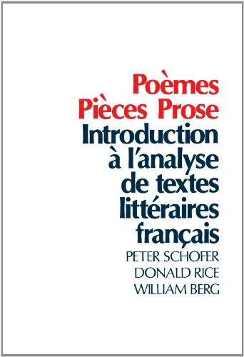 Poèmes, Pièces, Prose: Introduction à l'analyse de...