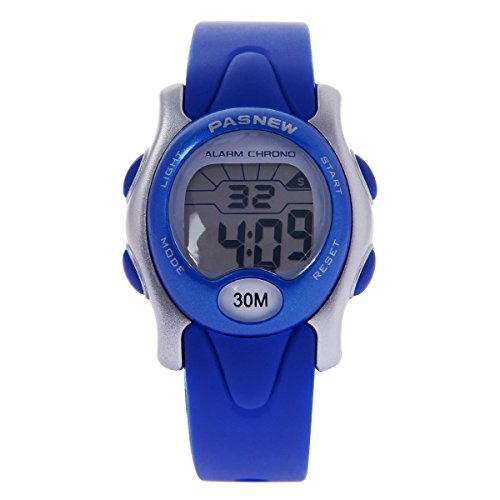 HIwatch Kids Sport Watches Waterproof Digital Watch for Boys and Girls Led Watch for Toddler Stopwatch Blue