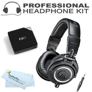 Audio-Technica ATH-M50x Professional Monitor Headphones ( earphone ) (New 2014 Model) with E6 FiiO Headphone ( Earphone ) Amplifier (ATH-M50X, Black) [parallel import goods]