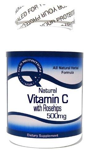 Natural Vitamin C with Rosehips 500mg 100 Capsules ^GLS