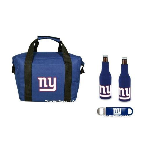 NFL Giants Cooler, Bottle Suit & Opener Set | New York Giants Gift Set by BeerBucketsPLUS.com
