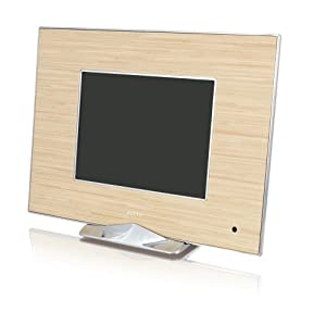 Ality AL-MP8IW Moderna 8-Inch LCD Digital Photo Frame - Irony Wood