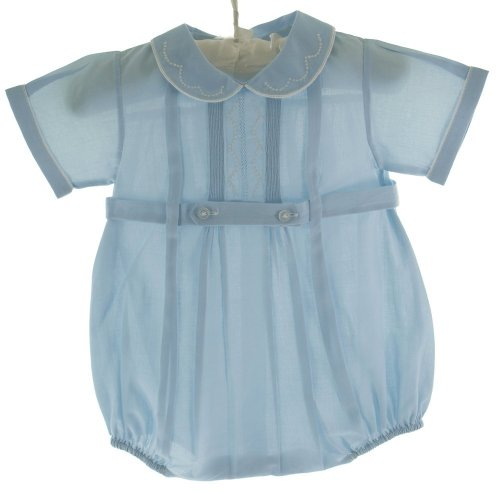 Baby Boys Blue Belted Bubble Outfit Feltman Bros 6M front-933832