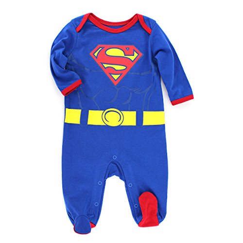 Superman Infant Costume Sleeper (0/3M) front-1019626