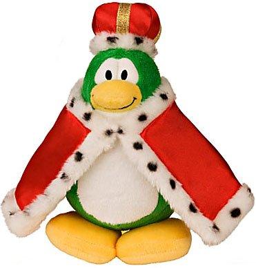 Buy Low Price Jakks Pacific Disney Club Penguin 6.5 Inch Series 11 Plush Figure King Version 2 Includes Coin with Code! (B004ITMR9G)