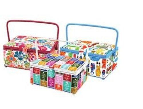 Sale!! Rectangular Sewing Basket 14 Inch X10 Inch X6-1/2 Inch