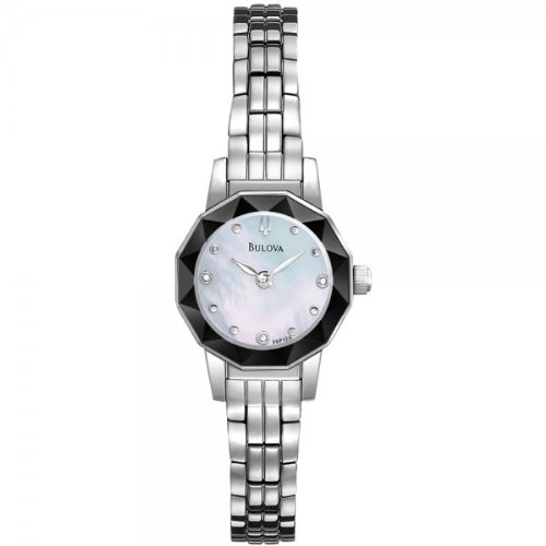 Bulova 96P129 Ladies Diamond White Steel Watch