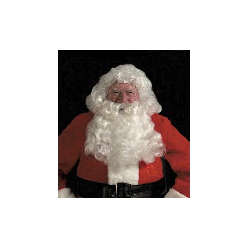 Deluxe White Santa Wig & Beard Set Costume Accessory