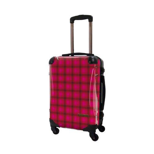 キャラート アートスーツケース ベーシック  カラーチェックモダン フレーム4輪 機内持込 (CRA01-023L(ピンク2))