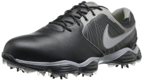 Nike Golf Men's Nike Lunar Control II Golf Shoe,Black/Metallic Pewter/Volt/Reflect Silver,10 M US