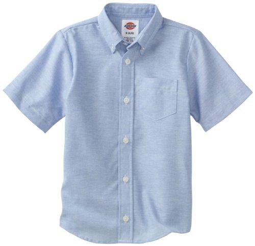 Dickies-KS920 Oxford-Camicia a maniche corte da bambino blu 4 anni