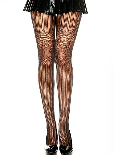 Sexy Women's Thigh High Black Fishnet Stockings Lace Hosiery Sultry Pantyhose