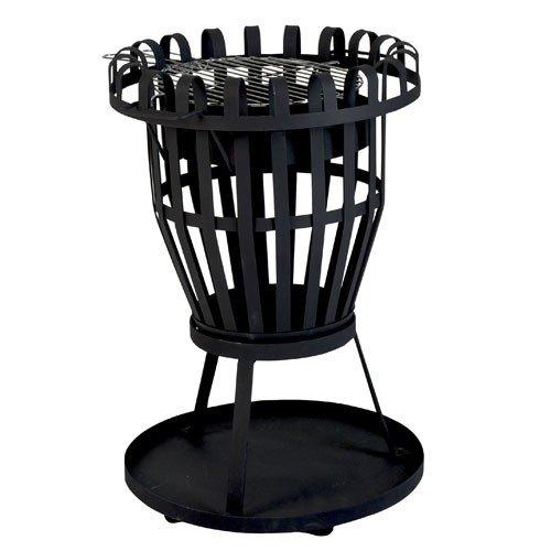 Feuerkorb mit Untersetzer und Grilleinsatz Feuerschale Feuerstelle #465 günstig online kaufen