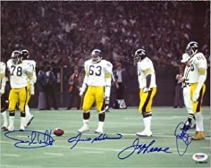 Joe Greene Autographed Hand Signed Pittsburgh Steelers 11x14 Photo 4 sig- PSA... by Hall of Fame Memorabilia