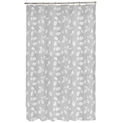 Maytex Mills Just Leaves PEVA Vinyl Shower Curtain White