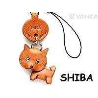 本革 携帯犬ストラップ プチワンチャン シバイヌ(柴犬) 【VANCA】【日本製、職人のハンドメイド】