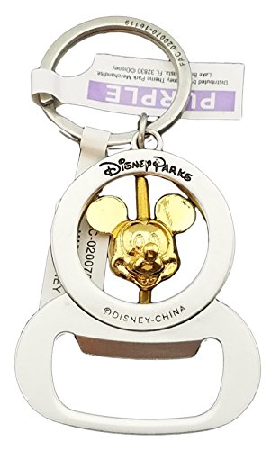 Disney Parks Keychain - Bottle Opener Spinning Mickey Mouse Head (Bottle Opener Keychain Disney compare prices)