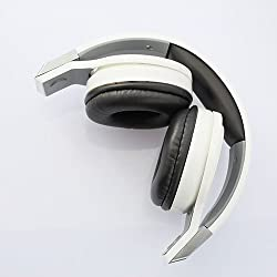 OVLENG Dynamic Stereo Foldable Studio Headphones with MIC (White)