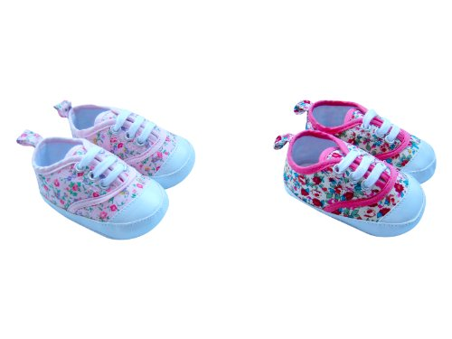 MABINI® Baby Girls Lace Up Shoes / Booties With Floral Design