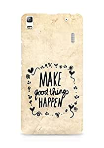 AMEZ make good things happen Back Cover For Lenovo A7000