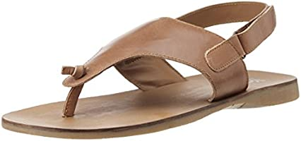 UCB Men's Brown and Tan Leather Flip Flops Thong Sandals - 10 UK/India (44 EU)