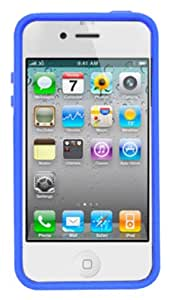 Decoro DSTIP4GYBLD Premium Case for Apple iPhone 4/4S - 1 Pack - Carrying Case - Retail Packaging - Gray/Blue
