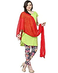 Castle Blood Red Chiffon Dupatta