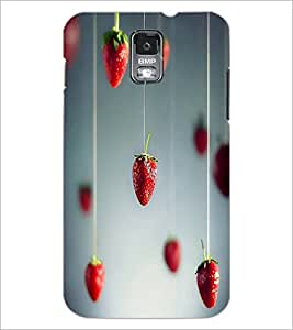 PrintDhaba Strawberries D-1754 Back Case Cover for SAMSUNG GALAXY S5 (Multi-Coloured)
