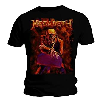 Official T Shirt Black MEGADETH Peace Sells S