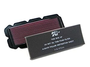 K&N HA-1596 Honda High Performance Replacement Air Filter by K&N