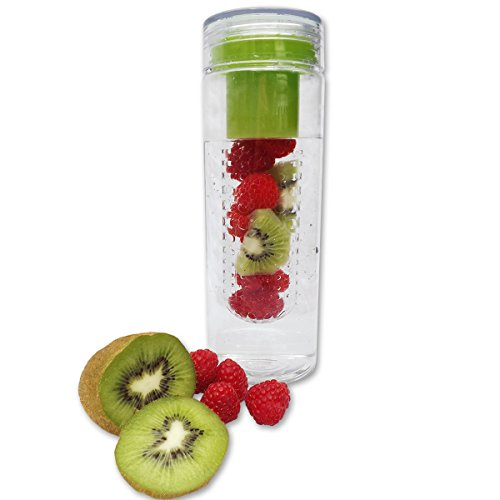 Fruit Infuser Water Bottle - Enjoy Naturally Flavored Water - (Green) front-64207