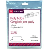 Smead Poly Tab 1/5 Cut Tab, Clear, 25 Per Pack (64600)