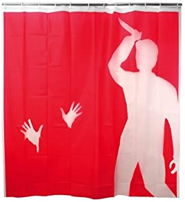 Kikkerland Psycho Shower Curtain, 72-Inch by 72-Inch
