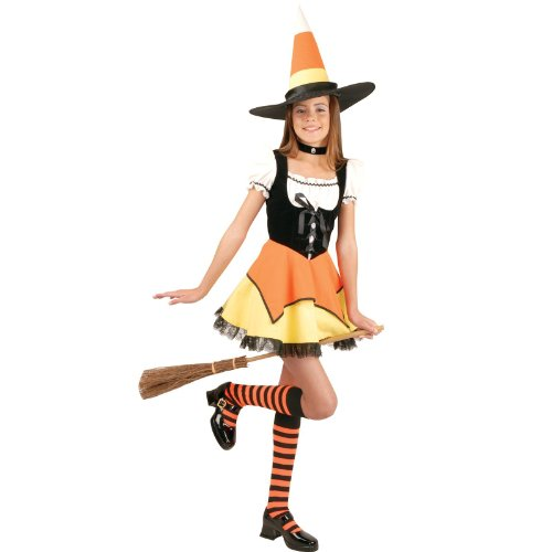 Candy Corn Witch Child Costume (Size:SM 5-7)