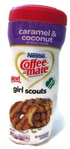 Coffee-Mate Creamer Girl Scouts Caramel & Coconut Flavor Powder (3Pk)