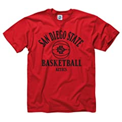 San Diego State Aztecs Adult Basically Basketball T-Shirt by San Diego State Aztecs