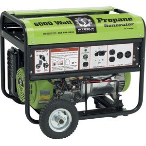 Steele 6000 Watt Propane Generator Sp-Gl650E With Electric Start