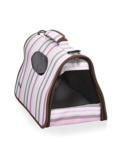 Pet Life Airline Approved Folding Zippered CAGE Pet Carrier