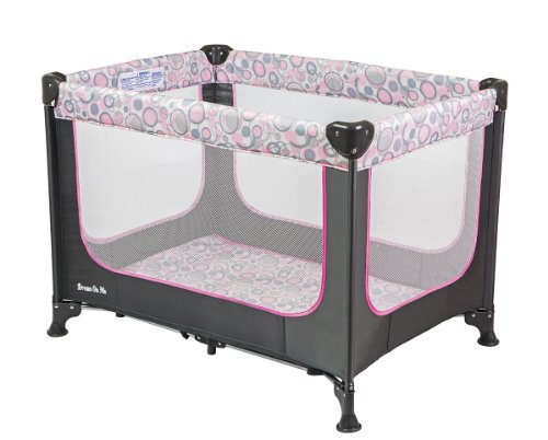 Dream On Me Zodiak Portable Playard, Grey/Pink - 1