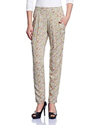 Madame Women's Patterned Pants (M1429652_Green_28)