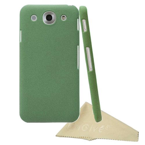 EnGive Slim Snap-on Fit Matte Quicksand Hard Cover Case Shell for LG Optimus G Pro with Cleaning Cloth (Green)