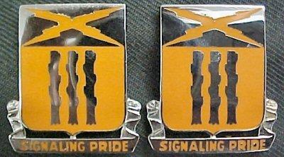 111th Signal Battalion Distinctive Unit Insignia - Pair