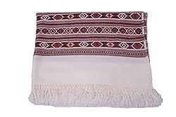 Kinari Women's Wool Stole (White)