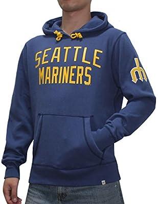 MLB Seattle Mariners Mens Athletic Warm Pullover Hoodie / Sweatshirt