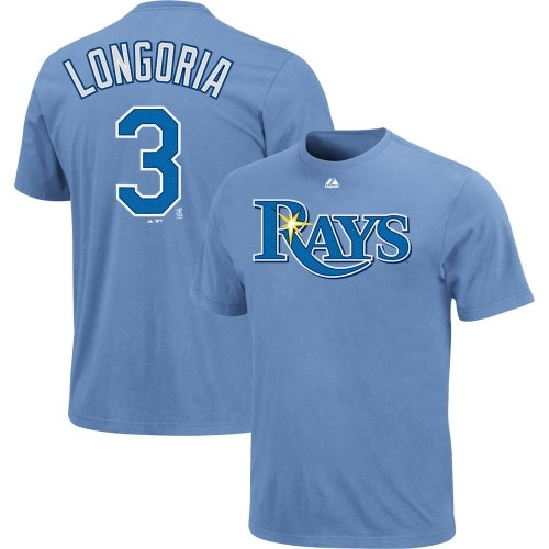 Evan Longoria Tampa Bay Rays #3 MLB Youth Name & Number Player T-shirt Blue (Youth XLarge 18/20)